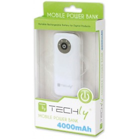 Techly Carica Batterie Power Bank per Smartphone 4000mAh USB (I-CHARGE-4000TY)