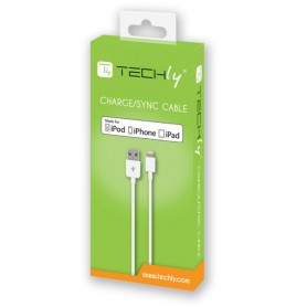 Techly Cavo da Apple Lightning a USB 1m Bianco (ICOC APP-8WHTY)