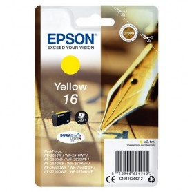 INK EPSON C13T16244012 Giall Penna/Cruciverba DURABriteUltra WF-2010 2510 2520 2530 2540 2630 2650D 2660 2760