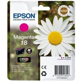 INK EPSON C13T18034012 Magent Margherita x XP-205 XP-305 XP-405WH XP-212 XP-215 XP-312 XP-315 XP-412 XP-225 XP-322 XP-325 XP-422