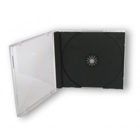 Porta Cd Jewel Case Nero 10,4 mm
