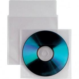 Buste Porta CD/DVD in PPL 100 Micron Con Aletta e Biadesivi 100 pz