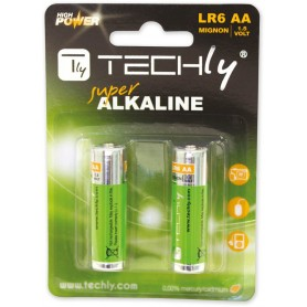 Techly Blister 2 Batterie High Power AA Stilo Alcaline LR06 1,5V (IBT-KAL-LR06-B2T)