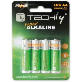 Techly Blister 4 Batterie High Power Stilo AA Alcaline LR06 1,5V (IBT-KAL-LR06T)