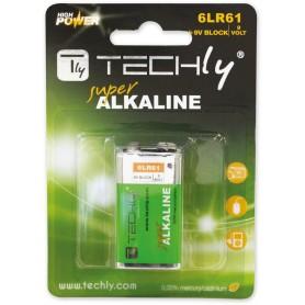 Techly Blister 1 Batteria High Power Alcalina 6LR61 9V (IBT-KAL-LR61T)