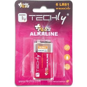 Techly Blister 1 Batteria Power Plus Alcalina 6LR61 9V (IBT-KAP-LR61T)