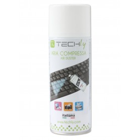 Techly Bomboletta Aria Compressa Spray di Pulizia 400ml (ICA-CA 100T)