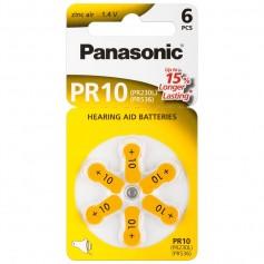 Batterie a Bottone per Protesi Acustiche PR10, 6pz
