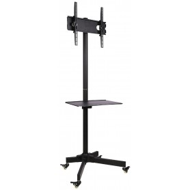 Supporto a Pavimento con Mensola Trolley TV LCD/LED/Plasma 23'' - 55''
