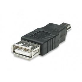 Adattatore USB A femmina a Mini B maschio