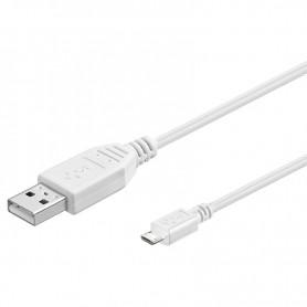 Cavo USB 2.0 A maschio/Micro B maschio 0,15m Bianco