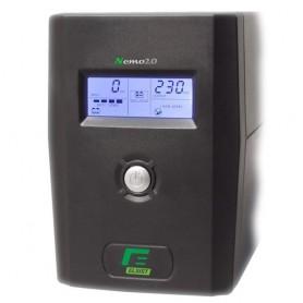 UPS ELSIST NEMO 2.0 300 -3000VA LCD + AVR LINE INTERACTIVE MONOFASE - USB+Software di gestione, Uscite: 2IEC+ 2SHUKO