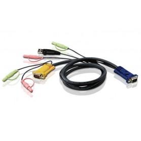 Cavo per KVM HD15 a USB con Audio 1,8m, 2L-5302U