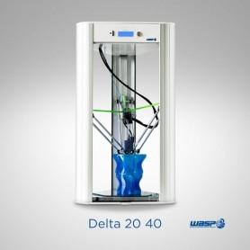 STAMPANTE 3D WASP DeltaWASP 20×40 C Vel 300 mm/s Stampa 1.75mm Diametro Ugello 0.4mm senza piatto riscald senza pannelli later
