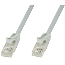 Techly Cavo di rete Patch in CCA Cat.5E Grigio UTP 0,25m ICOC CCA5U-0025T