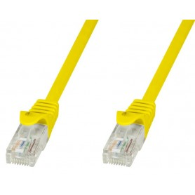 Techly Cavo di rete Patch in CCA Cat.5E Giallo UTP 1m ICOC CCA5U-010-YET