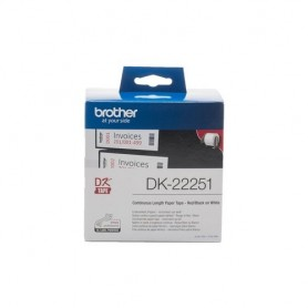 Brother DK-22251 Nero e rosso su bianco DK nastro per etichettatrice