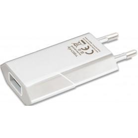 Caricatore USB 1A Compatto Spina Europea Bianco