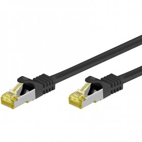 Cavo Patch Cat.7 Plug RJ45 6A S/FTP LSZH 0,5m Nero