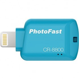 MICRO SD READER IOS PHOTOFAST ADAPTER LIGHTING - BLUE- CR8800B