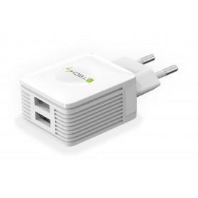 Techly IPW-USB-EC152W Interno Bianco caricabatterie per cellulari e PDA
