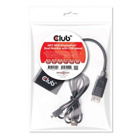 CLUB3D Multi Stream Transport Hub DisplayPort 1.2 Dual Monitor