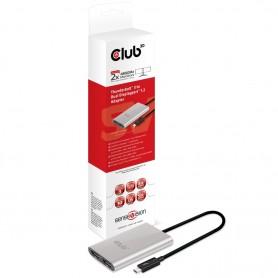 CLUB3D Thunderbolt™ 3 to Displayport™ 1.2 Dual Monitor 4K 60Hz