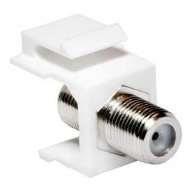 Adattatore Keystone BNC 75 Ohm F/F Bianco