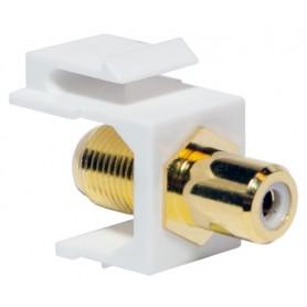 Adattatore Keystone RCA/F F/F Bianco