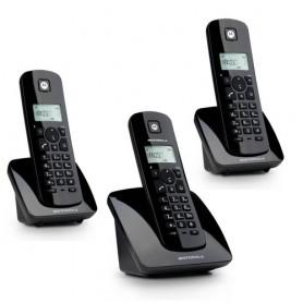 TELEFONO CORDLESS MOTOROLA C403EBK TRIO Black DECT display alfanum. monocromatico, ID chiamate, 5 suonerie, rubrica 50 nomi