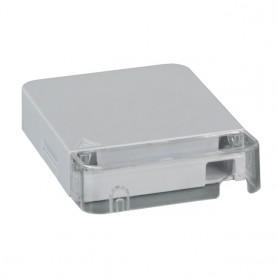 Scatola di connessione indoor FTTH per 1 fibra, 1 adattatore, passante, IP20