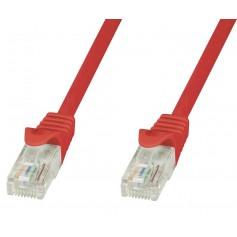 Techly Cavo di rete Patch in CCA Cat.6 Rosso UTP 1m ICOC CCA6U-010-RET