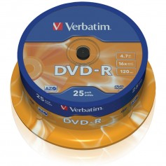 Verbatim DVD-R Matt Silver 4.7GB DVD-R 25pezzo(i)