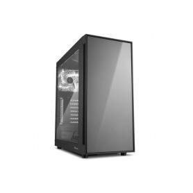SHARKOON CASE AM5 WINDOW ATX 2XUSB2, 2XUSB3, 7 SLOTS, 2X140 FRONT, 1X140 REAR, TITANIUM