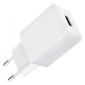 Caricatore USB 2,4A Compatto Spina Europea 2 pin Bianco