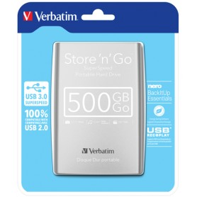 Verbatim Store 'n' Go 500GB Argento disco rigido esterno