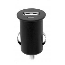 Caricatore Compatto da Auto 1p USB con uscita 1A Nero