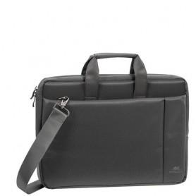 BORSA NB RIVACASE 15.6'' tasca esterna x accessori, tracolla antiscivolo removibile COLORE GRIGIO