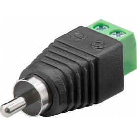 Adattatore Terminal Block 2-pin a RCA maschio