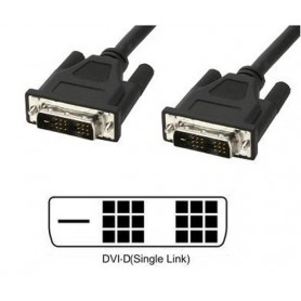 Techly Cavo Monitor DVI digitale M/M Single Link 5m (DVI-D) (ICOC DVI-8050)