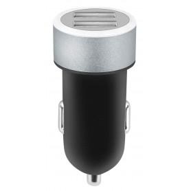 Caricatore da Auto 2 USB con uscita 2,4A Nero