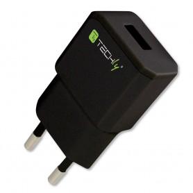 Techly Alimentatore da Rete Italiana 1 porta USB 5V/2.1A Nero (IPW-USB-21ECBK)