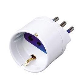 Techly Adattatore spina 16A presa Bianco