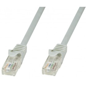 Techly Cavo di rete Patch in CCA Cat.5E Grigio UTP 0,5m ICOC CCA5U-005T