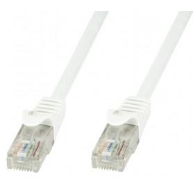 Techly Cavo di rete Patch in CCA Cat.5E Bianco UTP 0,5m ICOC CCA5U-005-WHT