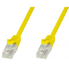 Techly Cavo di rete Patch in CCA Cat.5E Giallo UTP 0,5m ICOC CCA5U-005-YET