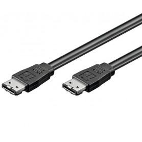 Cavo E-SATA Tipo I Flat 1.5GBits / 3GBits / 6GBits 50 cm Nero