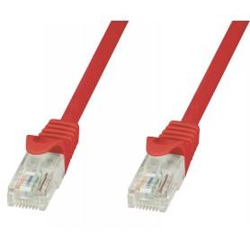 Techly Cavo di rete Patch in CCA Cat.5E Rosso UTP 0,5m ICOC CCA5U-005-RET