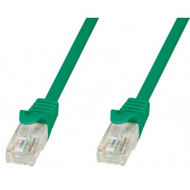 Techly Cavo di rete Patch in CCA Cat.5E Verde UTP 0,5m ICOC CCA5U-005-GREET
