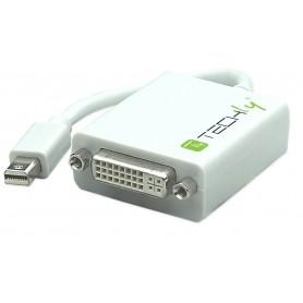 Techly Adattatore Mini DisplayPort (Thunderbolt) 1.1 / DVI 15cm Bianco (IADAP MDP-DVIF)